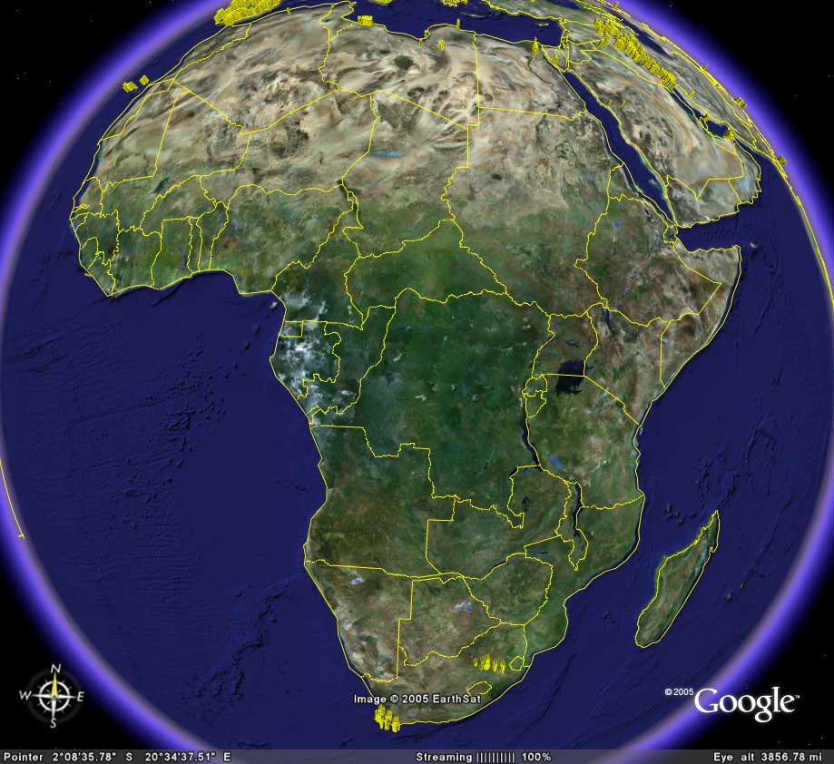 africa map google earth