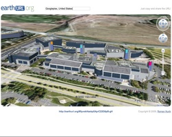 EarthURL.org screenshot of Googleplex