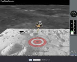 Apollo 11 Moon Lander in Google Earth