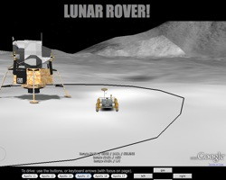 Lunar Rover Game in Google Earth
