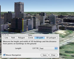 3D Measurements in Google Earth Pro 6
