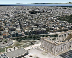 Athens and Barcelona in 3D