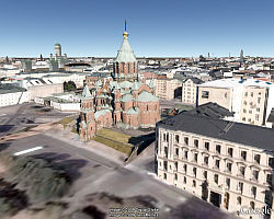 3D Helsinki in Google Earth