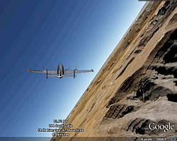 Planes in Google Earth Flight Simulator