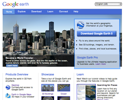 A whol new Website for Google Earth