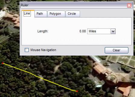 Google earth measuring height