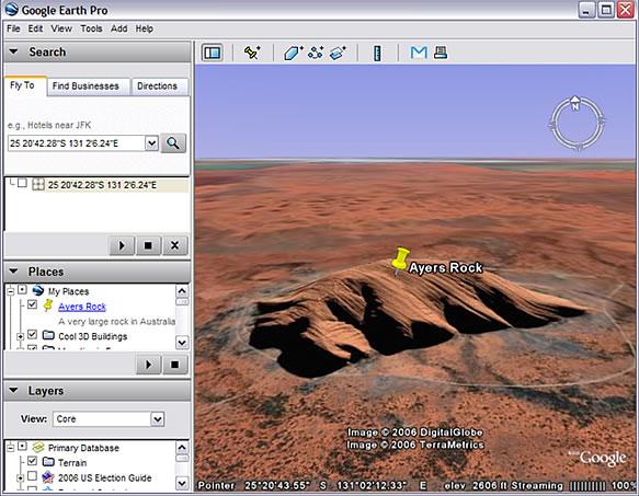 Tanda Letak di Google Earth